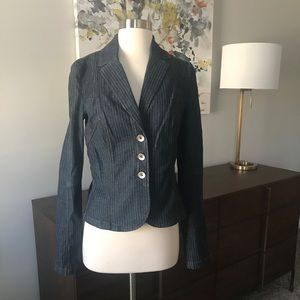 A/X Armani Exchange Denim Pinstriped Blazer